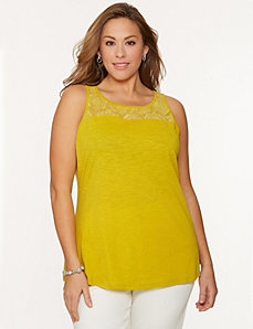 Crochet shoulder tank
