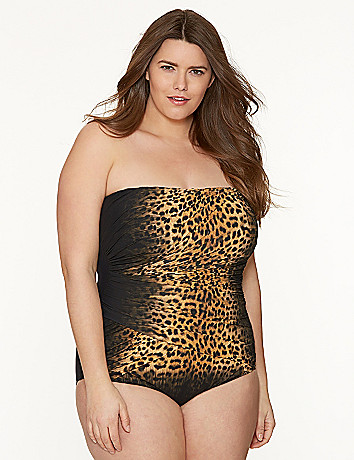 Animal print maillot by Gottex