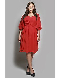 The Karrie Dress in Red by Queen Grace