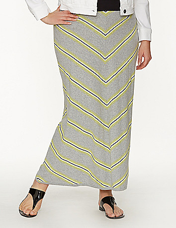 Chevron sweater maxi skirt