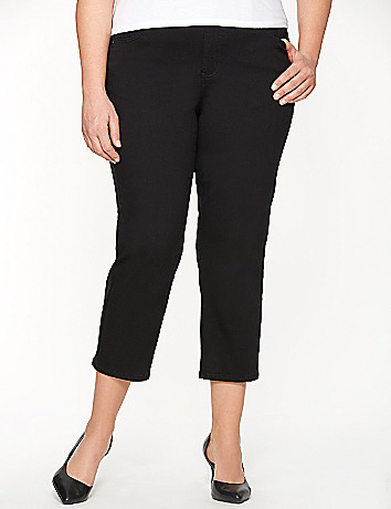 Twill capri with Tighter Tummy Technology