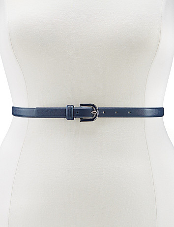 Enamel buckle skinny belt by Lane Bryant