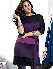 Colorblock dolman dress by Lane Bryant