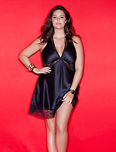Plunging halter chemise by Sophie Theallet