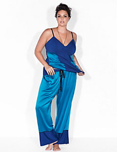 Satin & modal sleep pant by Sophie Theallet