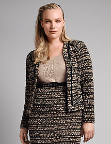 Boucle knit jacket by Isabel Toledo