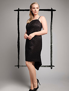Deco seamed dress by Isabel Toledo