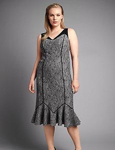 Seamed lace sheath dress by Isabel Toledo