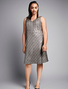 Foiled tweed sheath dress by Isabel Toledo