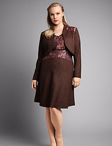 Tweed slip dress by Isabel Toledo