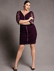 Stretch lace dress by Isabel Toledo