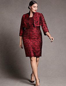 Rose Jacquard Bustier Dress by Isabel Toledo