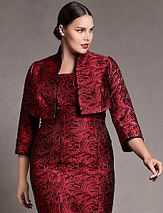 Rose jacquard jacket by Isabel Toledo