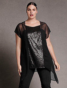 Chiffon sequined tunic by Isabel Toledo