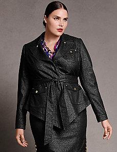 Metallic military jacket by Isabel Toledo