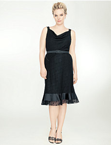 Lace cowl neck dress by Isabel Toledo