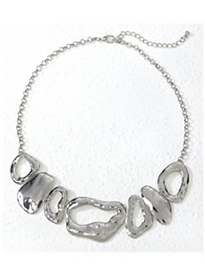 Silvered Shapes Necklace by Ulla Popken