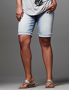 Genius Fit™ raw cuff Bermuda short