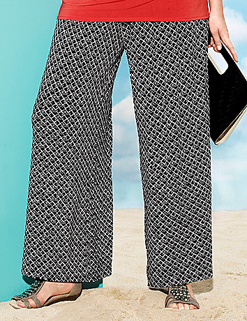 Plus Size Printed Palazzo Pant by Lane Bryant