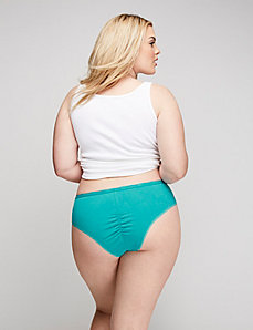 Sassy Cotton Ruched-Back Cheeky Panty