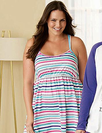 Striped knit chemise