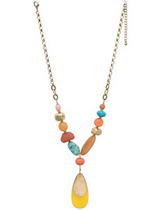 Teardrop pendant necklace by Lane Bryant