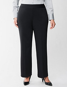 Ponte knit pull on trouser