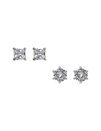 Cubic zirconium earrings duo by Lane Bryant