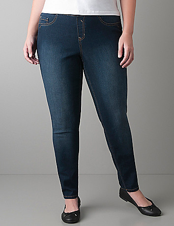 Dark sandblast jegging by Lane Bryant