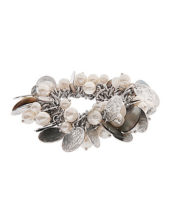 Pearl and disc shaker bracelet by Lane Bryant
