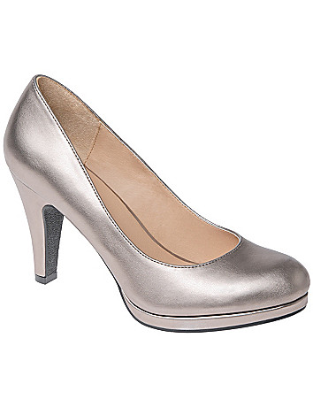 Wide Width Metallic Heels by Lane Bryant