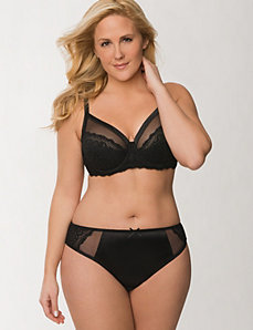 Illusion French Full Coverage Bra Ensemble