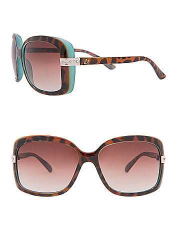 Two Tone Animal Print Sunglasses by Lane Bryant