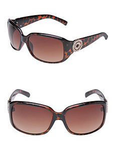 Rhinestone temple sunglasses