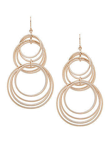 Dusted multi hoop earrings by Lane Bryant