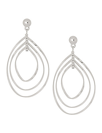 Swirled triple teardrop earrings by Lane Bryant