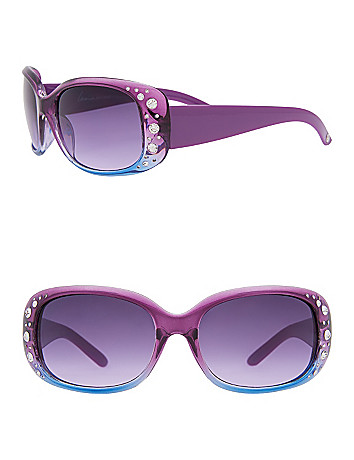 Ombre Rhinestone Sunglasses by Lane Bryant