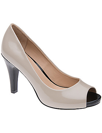 Wide Width Patent Peep Toe Heel by Lane Bryant
