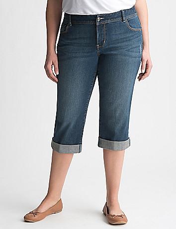 Full Figure Denim Capri