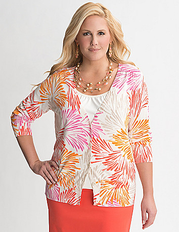 Wispy floral cardigan by Lane Bryant