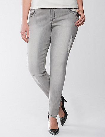 Distressed Embellished Jean by Lane Bryant