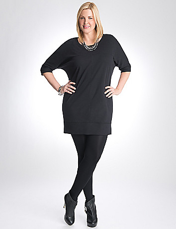 Knit wedge dress by Lane Bryant