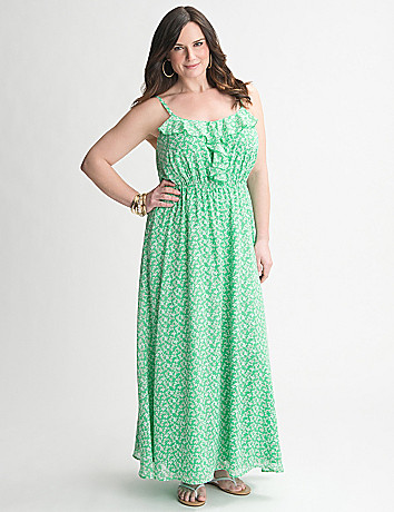 Floral Ruffled Maxi Dress by Lane Bryant