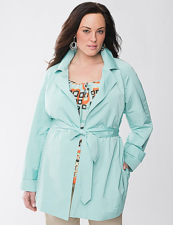Plus Size Taffeta Trench Coat by Lane Bryant