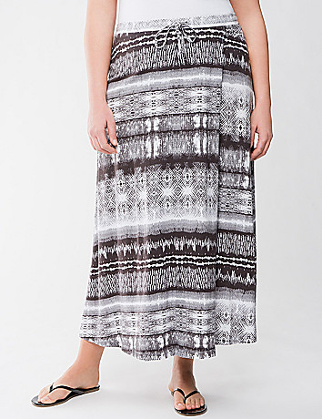 Mixed print maxi skirt by Seven7