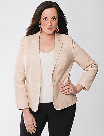 Plus Size Leather Blazer by Lane Bryant
