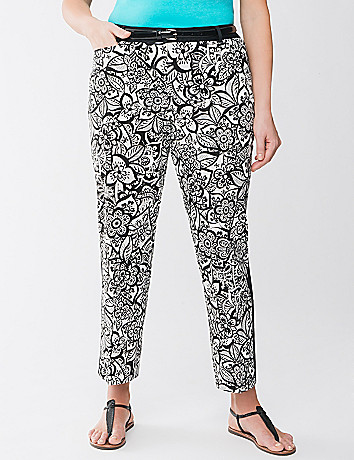 Plus Size Tuxedo Ankle Pant by Lane Bryant