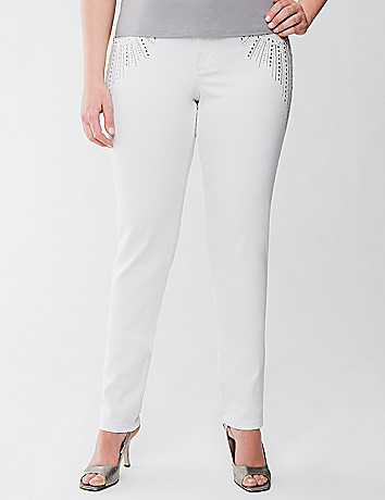 Lane Collection embellished skinny jean
