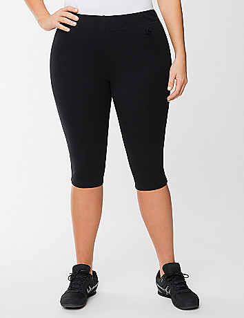 Full figure knit pedal pushers by Lane Bryant