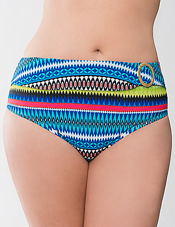 Printed Swim Hipster by Cacique